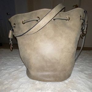 Taupe Bucket Bag